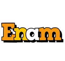 Enam cartoon logo