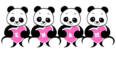 Enam love-panda logo