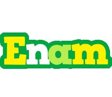 Enam soccer logo