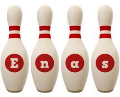 Enas bowling-pin logo