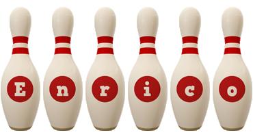 Enrico bowling-pin logo