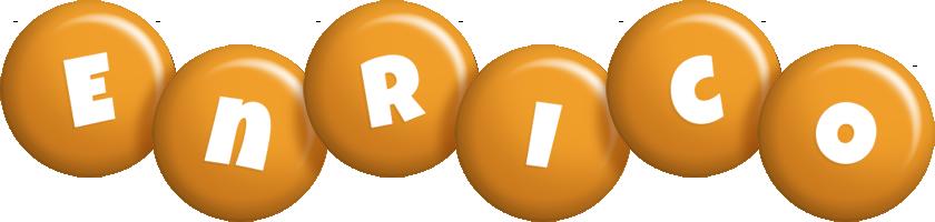 Enrico candy-orange logo
