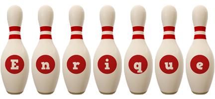 Enrique bowling-pin logo