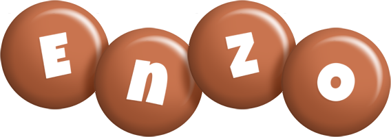 Enzo candy-brown logo