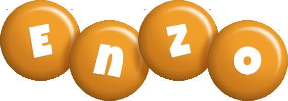 Enzo candy-orange logo