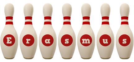 Erasmus bowling-pin logo