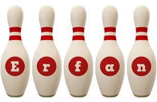 Erfan bowling-pin logo