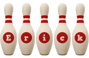 Erick bowling-pin logo