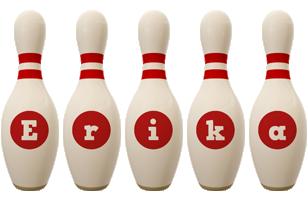 Erika bowling-pin logo
