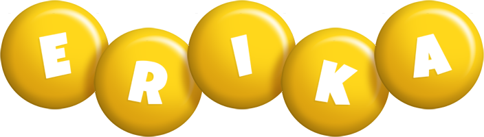 Erika candy-yellow logo