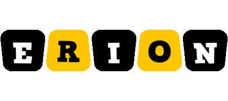 Erion boots logo