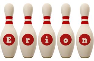 Erion bowling-pin logo