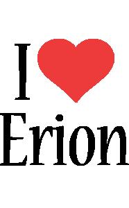Erion i-love logo