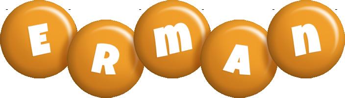 Erman candy-orange logo