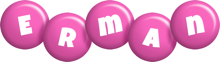 Erman candy-pink logo