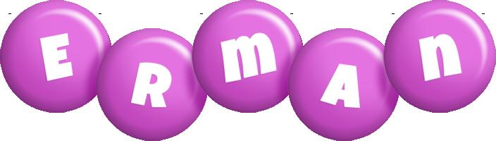 Erman candy-purple logo