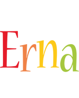Erna birthday logo