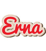 Erna chocolate logo
