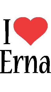 Erna i-love logo