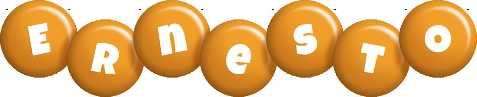 Ernesto candy-orange logo