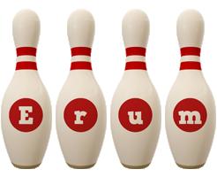 Erum bowling-pin logo