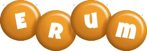 Erum candy-orange logo