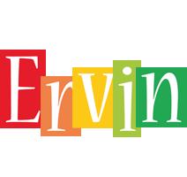 Ervin colors logo
