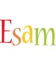 Esam birthday logo