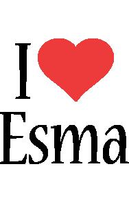Esma i-love logo