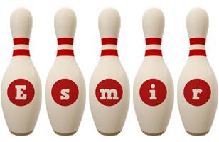 Esmir bowling-pin logo