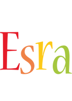 Esra birthday logo