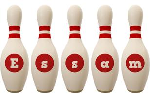 Essam bowling-pin logo