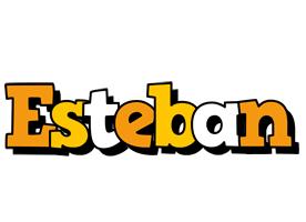 Esteban cartoon logo