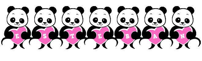 Esteban love-panda logo