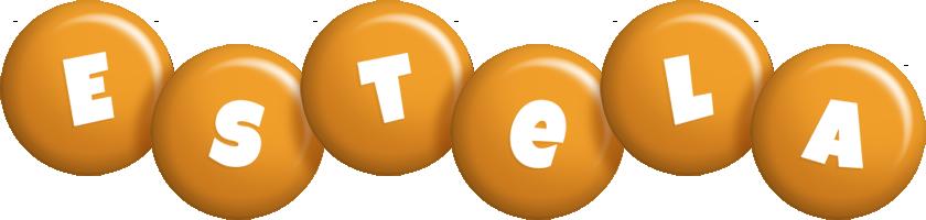 Estela candy-orange logo
