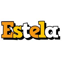 Estela cartoon logo