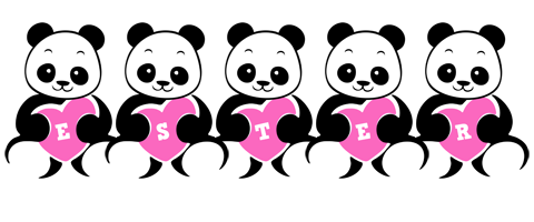 Ester love-panda logo