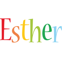 Esther birthday logo
