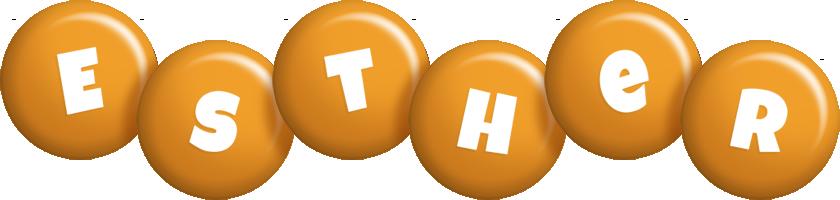 Esther candy-orange logo