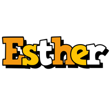 Esther cartoon logo