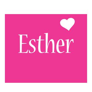 Esther love-heart logo