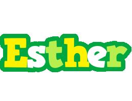 Esther soccer logo