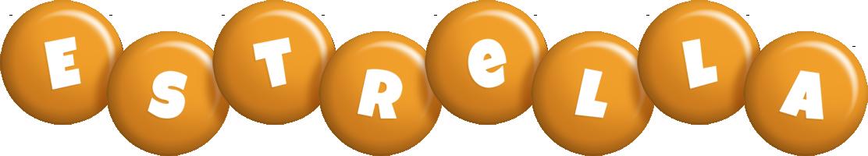 Estrella candy-orange logo