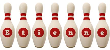 Etienne bowling-pin logo