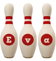 Eva bowling-pin logo