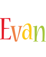 Evan birthday logo