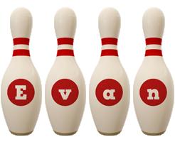 Evan bowling-pin logo