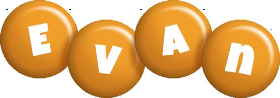 Evan candy-orange logo