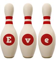 Eve bowling-pin logo