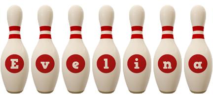 Evelina bowling-pin logo